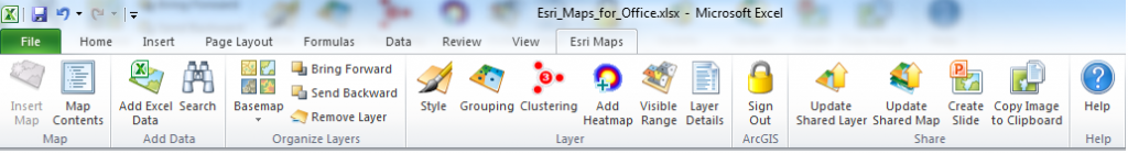 Intelligente Webkarten mit Esri Maps for Office - GIS IQ Blog