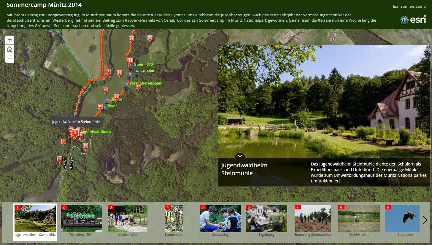 Esri Sommercamp 2014 Müritz Nationalpark