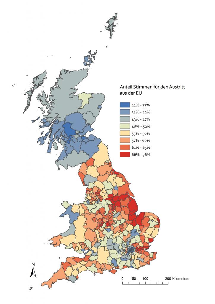 Abb. 1: Abstimmungsergebnisse zum Brexit