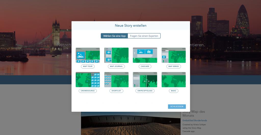 Template Übersicht Story Map