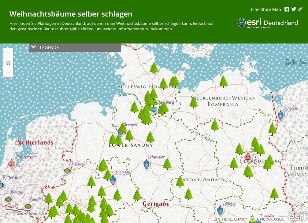 """Story Map """"Weihnachtsbäume selber schlagen"""""""