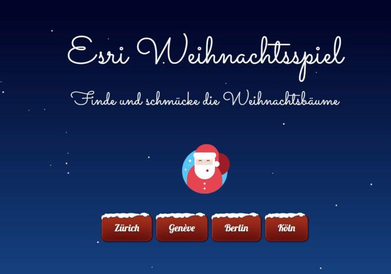 Esri Weihnachtsspiel für GeoGeeks