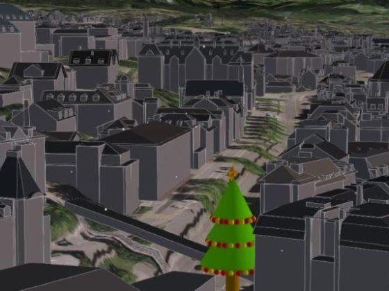 Schneemann braucht Hilfe - ein GIS-Weihnachtsspiel